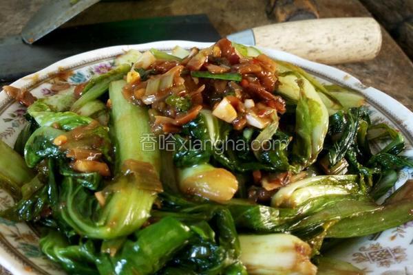 普宁豆酱炒小白菜