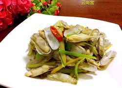 葱姜炒蛏子