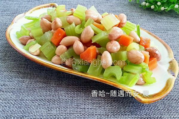 做法花生米的芹菜_酸菜_香哈网咸鱼菜谱的做法图片
