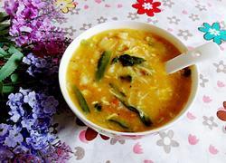 番茄金针菇蛋花疙瘩汤
