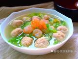 鲜虾鸡肉丸子汤的做法[图]