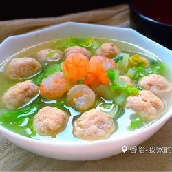 鮮蝦雞肉丸子湯的做法[圖]