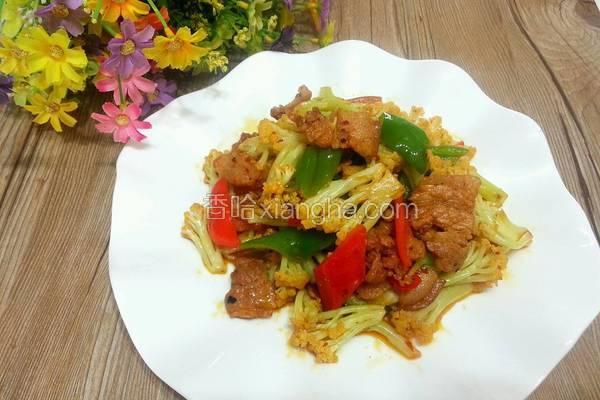 干锅五花肉菜花