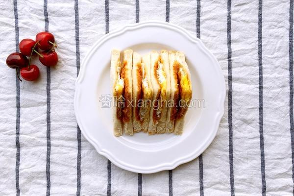 家庭简易版三明治