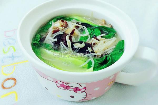虾米菌菇汤