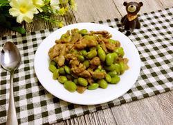 肉丝炒毛豆