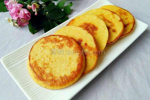 玉米面鸡蛋饼