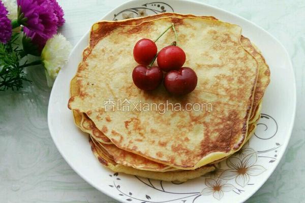 蜂蜜牛奶玉米饼