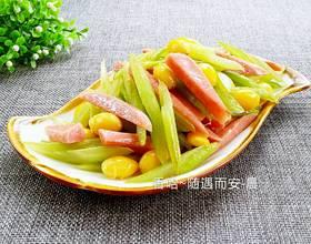 白果炒芹菜[图]