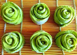 绿玫瑰花卷