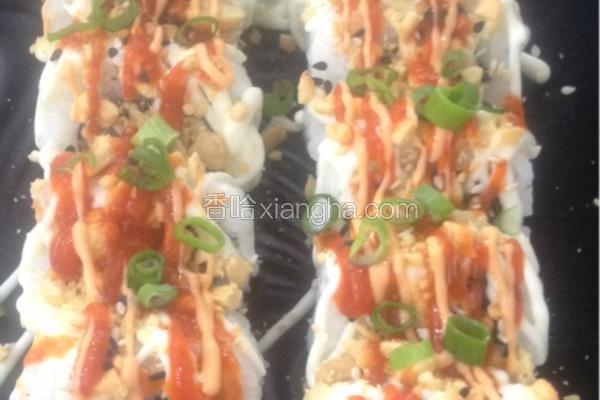 脆香三文鱼卷