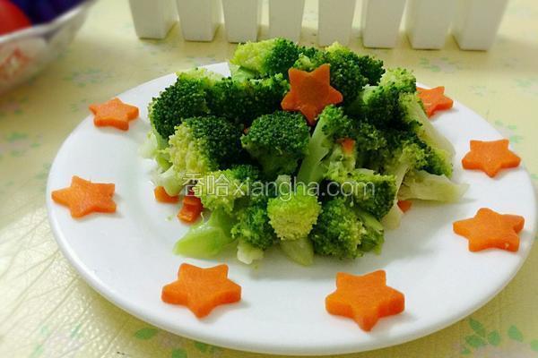 西兰花炒胡萝卜