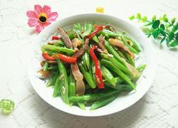 红椒四季豆炒腊肉