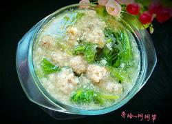 小白菜汆丸子