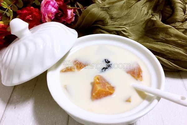 木瓜红枣炖奶