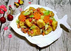 胡萝卜卷心菜炒馒头