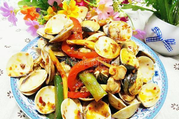 葱姜辣炒蛤蜊