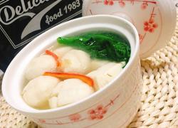 青菜豆腐鱼丸汤