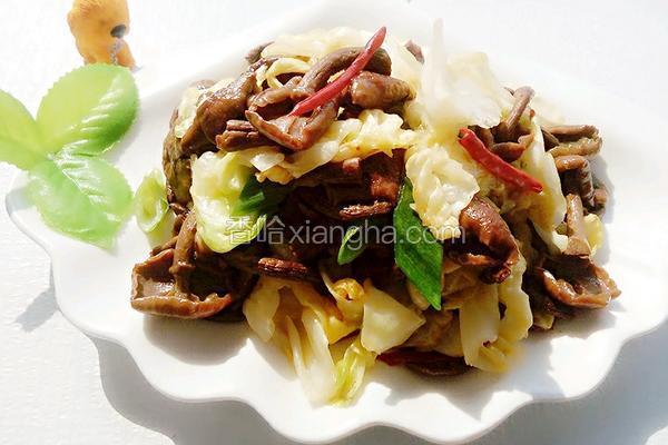 卷心菜炒滑子蘑