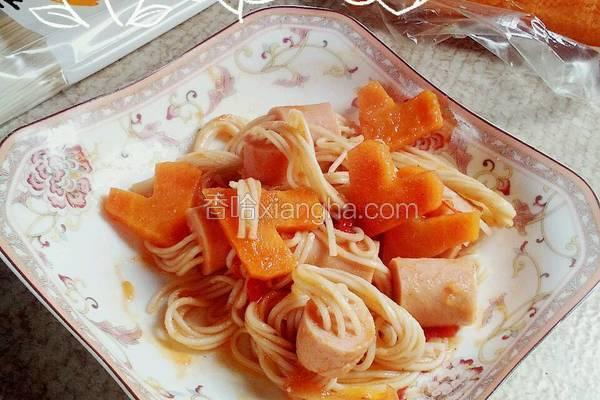 火腿肠番茄面线