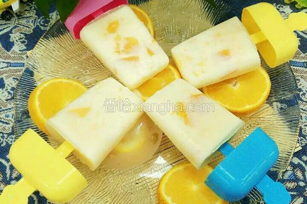 芒果橙汁奶冰棍
