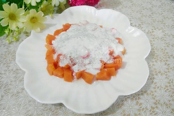 木瓜酸奶西米露