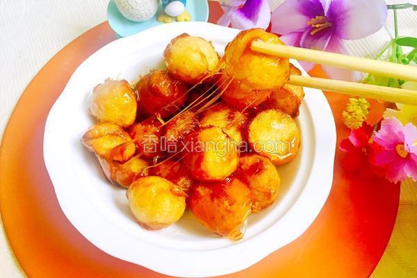 拔丝土豆球