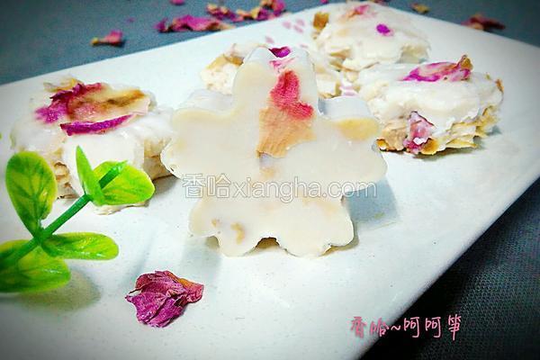 玫瑰椰香布丁