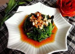 蒜油泡菠菜