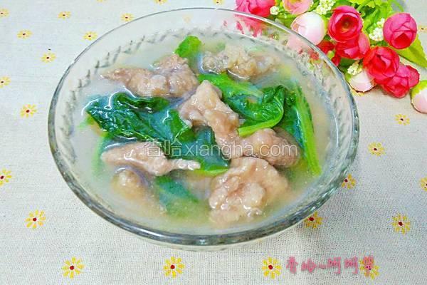 小白菜滑肉汤