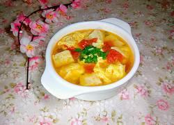 西红柿鸡蛋豆腐汤