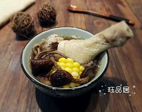 茶树菇玉米鸡汤[图]