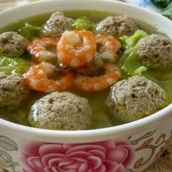 虾仁牛肉萝卜丸子汤