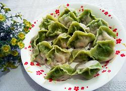 翡翠芸豆肉饺子