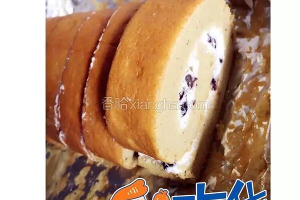抹茶蜜豆蛋糕卷
