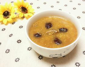 小米红枣核桃稀饭