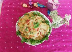 土豆丝杂蔬蛋饼