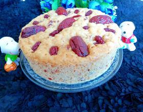 红糖大枣蔓越莓发糕