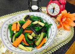茄子青椒胡萝卜炒玉米笋