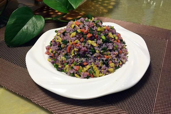 蛋炒紫薯米