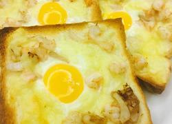 鲜虾芝士烤鸡蛋吐司