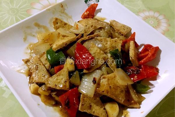洋葱脆豆腐
