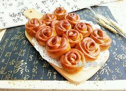 红糖黑麦花朵面包