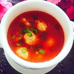 西柿鱼丸汤