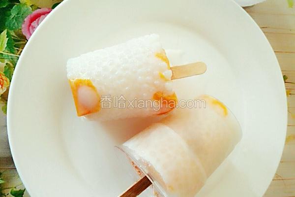 芒果牛奶西米露冰棒
