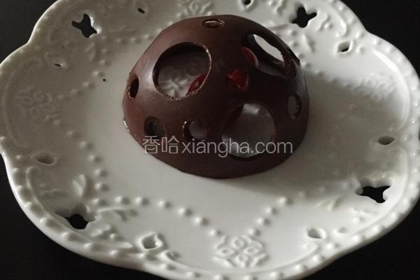 巧克力镂空半球装饰