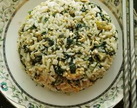 紫苏鸡蛋炒米饭