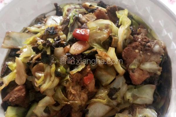 排骨酸菜炒包菜