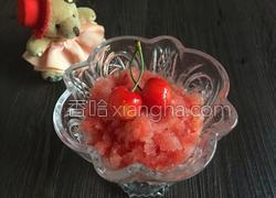 樱桃西瓜冰沙