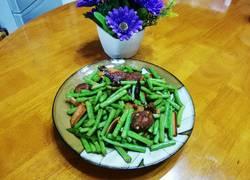 香肠火腿炒豇豆